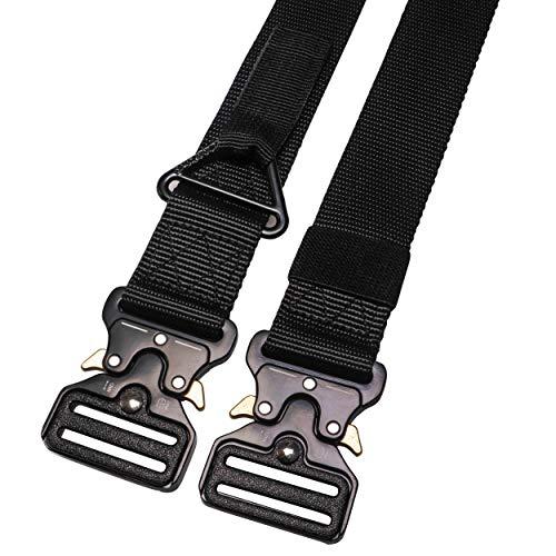 RBOCOTT Cintura Tattica, Cintura Regolabile Multifunzionale Militare Tattica, Cintura a Sgancio Rapido, Adatta per la Cintura di Sport All'aperto, Cintura di Nylon da Uomo, Nero, Blu(140CM)