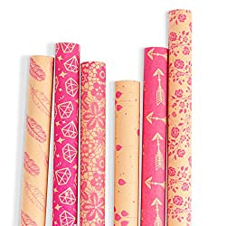 Pink Patterned wrapping paper