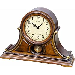 Rhythm Clocks Tuscany II Wooden Musical Mantel Clock