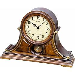 Rhythm Clocks Tuscany II Wooden Musical Mantel Clock