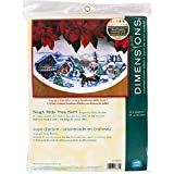 Dimensions Counted Cross Stitch Tree Skirt Kit, Sleigh Ride, 11 Count White Aida, 45' D