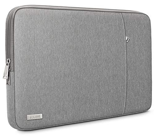 TECOOL Funda Ordenador Portátil para 13 Pulgadas MacBook Air/Pro, 13,5 Surface Laptop, 14' Lenovo Flex 5/Yoga C740, Huawei Matebook D 14 Ultrabook Bolso Protección Completa, Gris