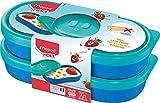 Maped Concept Kids 870903 - Contenitore per Snack Kids, 2 x 150 ml, 2 x 150 ml, Colore: Blu