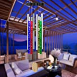 XINGTONG Solar Wind Chimes -Outside Solar Wind Chime Outdoor Musical Wind Chimes Memorial Gifts Birthday Gifts for Mom Women Outside Waterproof Color Changing Decor for Home Garden Yard Porch