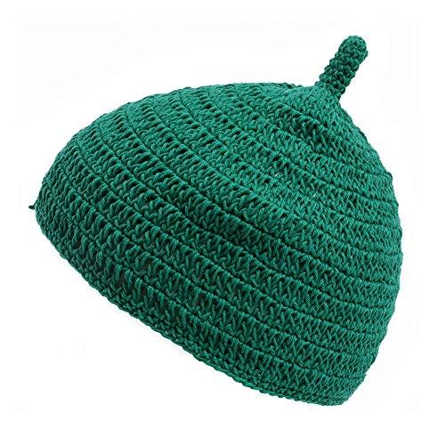 (カジュアルボックス)CasualBox ベビー REOM コットン どんぐりワッチ 5色 ベビーサイズ 赤ちゃん ニット帽 出産祝いニットキャップ charm チャーム (グリーン)