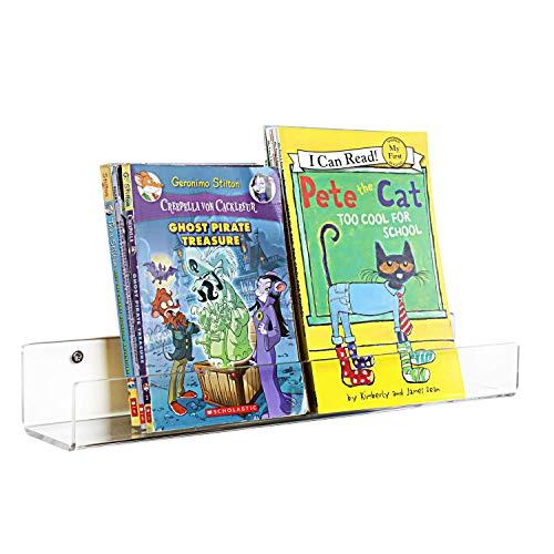 HIIMIEI Kids Acrylic Ledge - Estantería flotante
