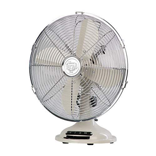 Bimar VTM33 Ventilatore da Tavolo Vintage 35W, Corpo in Metallo, Elica Ø 30cm con 4 Pale, Comandi Vintage con Levetta Selettore Velocità, Ventilatore a 3 Velocità, Orientabile Destra Sinistra