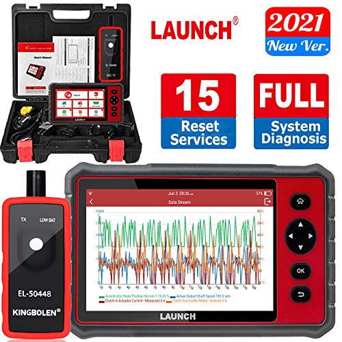 LAUNCH CRP909E OBD2 Scanner OE-Level Full System Scan Tool,16 Reset Automotive Scanner,Key Programming,Oil,DPF,ABS Bleeding,TPMS,EPB,Android 7.1,Auto VIN,WiFi Free Update,EL-50448(Gift)-2021 New Ver.