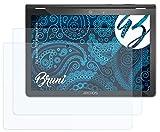 Bruni Schutzfolie kompatibel mit Archos 101 Magnus Plus Folie, glasklare Bildschirmschutzfolie (2X)