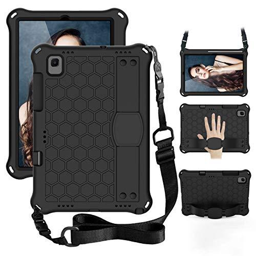 GOZOPO - Custodia per Galaxy Tab A7 da 10,4 pollici (2020), antiurto, con tracolla, con supporto, custodia protettiva a prova di bambino per Samsung Galaxy Tab A7 10.4 (versione 2020) - Nero