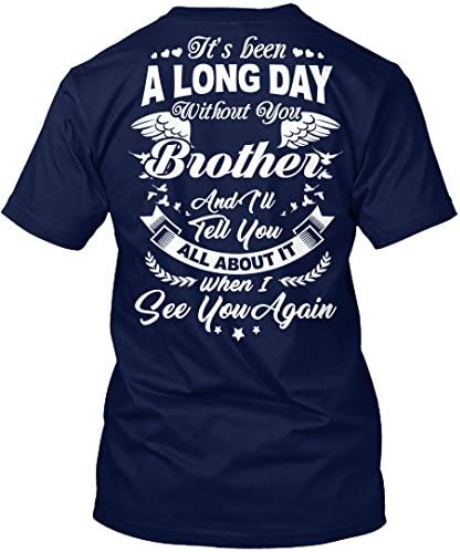 Teespring Unisex Rest In Peace Brother Hanes Tagless T Shirt X Large Navy product image