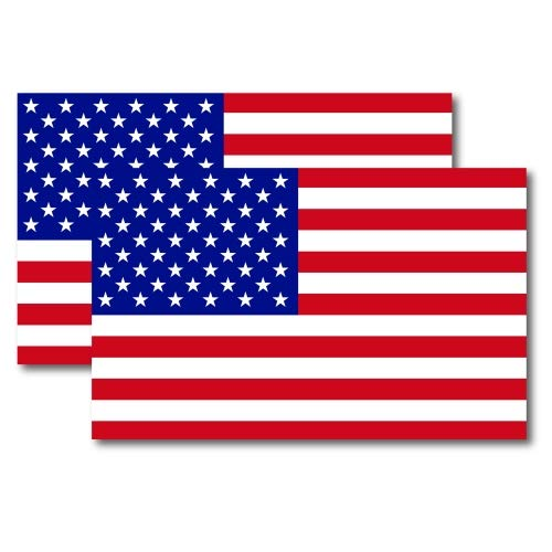 American Flag Car Magnet Decal - 2 Pack 5 x 8 Heavy Duty for Car Truck SUV Waterproof