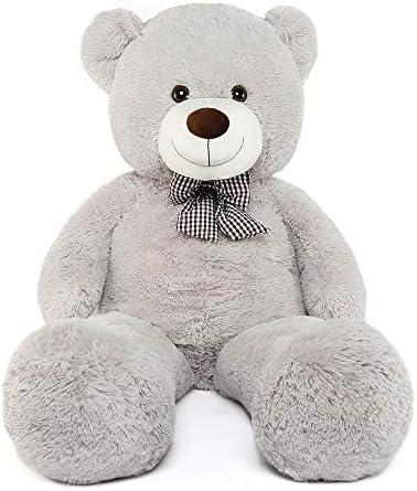 Misscindy Giant Teddy Bear Plush Stuffed Animals for Girlfriend or Kids 47 inch, (White)