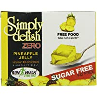 Simply Delish, Sugar-Free Jelly Dessert - Vegan, Gluten and Fat-Free, Pineapple Flavour - Pack of 6, Keto Friendly Sweets