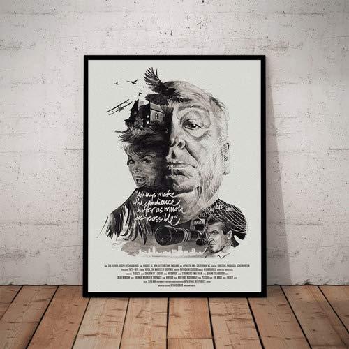 Quadro Diretor Alfred Hitchcock Cinema Arte Filmes Classicos