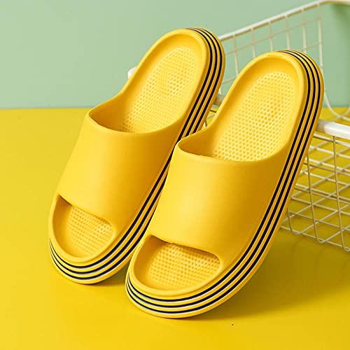 ypyrhh Sandalias Cómodo Casual Zapatos de Playa,Pareja de Zapatillas Antideslizantes,hogar Grueso-cúrcuma_35/36,Sandalias Playa