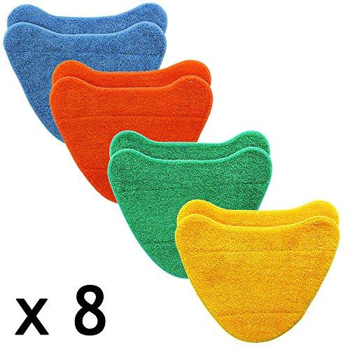 SPARES2GO Vloerbedekking Pads voor VAX S86-CCM-3 S86-MC-C S86-SF-B S86-SF-C S86-SF-CCP S86-SF-CC Stoomreiniger Mop (Pack van 8)