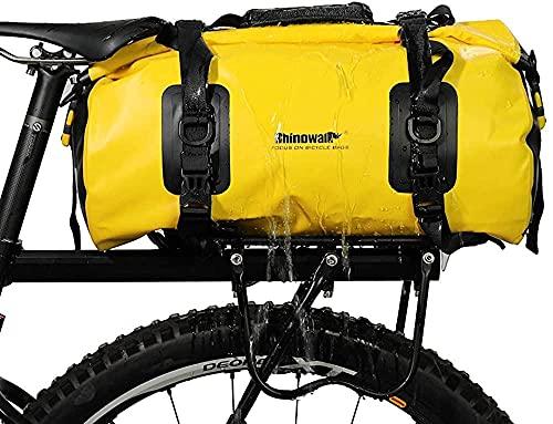HDONG Bolso de Bicicleta Portador de Equipaje Bolsa de Equipaje a Prueba de Agua Bolsa Trasera de Bicicleta 20L-Amarillo