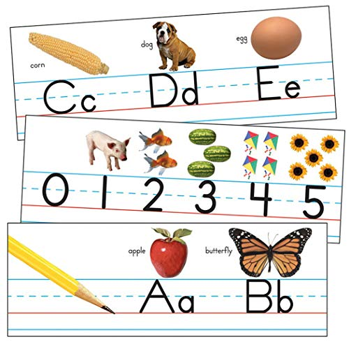 Carson Dellosa Education Manuscript ABC Line for Classroom Bulletin Board, Classroom Decorations Elementary (3429)