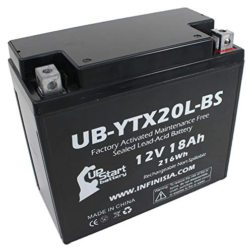 UB-YTX20L-BS Battery Replacement for 2000 Kawasaki Jet Ski JH1200-A, B Ultra 150 1200 CC Personal Watercraft - Factory Activated, Maintenance Free, Motorcycle Battery - 12V, 18AH