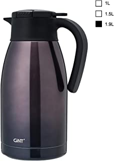 GiNT Stainless Steel Thermal Coffee Carafe with Lid/Double Walled Vacuum Thermos / 12 Hour Heat Retention-gradient,1.9L, Purple