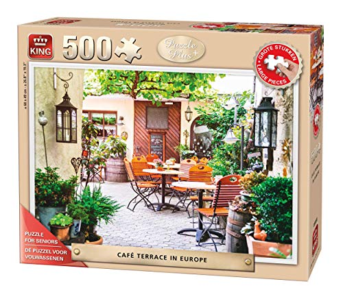 King Puzzle Plus Terrace Europe 500 pcs Puzzle - Rompecabezas (Puzzle Rompecabezas, Arte, Adultos, Hombre/Mujer, 8 año(s), Cartón)