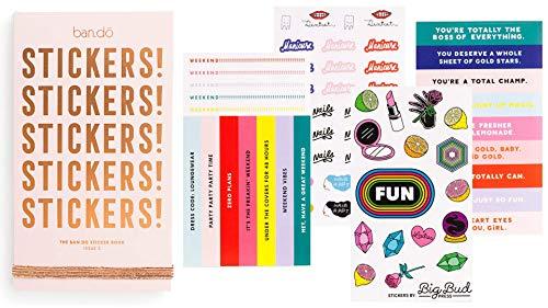 ban.do Planer Stickerbuch, 35 Seiten mit über 700 Aufklebern sortiert, Ausgabe 2
