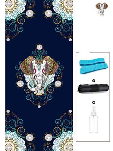 Non-Slip Yogamat, 10Mm Dik Milieuvriendelijk TPE Materiaal Met Een Grote Oefening Mat Bandjes, Gieter Yoga Toepassen, Pilates, Fitness