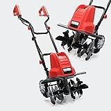 WilTec Motocultor eléctrico para jardín 1500W 200rpm Motoazada Rotavator Jardinería Huerto...