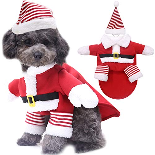YUESEN Ropa Mascotas Navidad Ropa Mascotas Lindo Santa Claus Divertido Disfraz para...