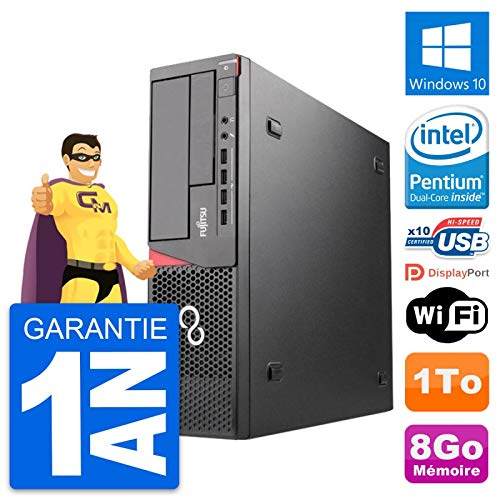Fujitsu PC Esprimo E720 Dt Intel G3220 RAM 8Go Festplatte 1To Windows 10 Wifi (Generalüberholt)