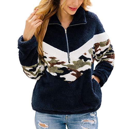 Felpe Donna con Cappuccio Tumblr Ragazza Eleganti Pullover Sweatshirt Camicetta da Donna Camicia in Flanella di Flanella Camo Flanella Patchwork a Maniche Lunghe