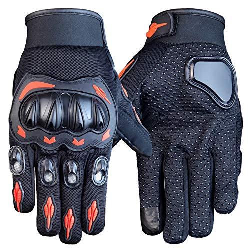 asx Guantes para hombre de motocicleta Accessrioes, guantes de carreras de motocross, todoterreno, guantes de soldadura para hombres (color naranja)