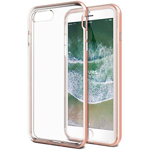 VRS DESIGN, Custodia Trasparente per iPhone 7 Plus [Oro Rosa] Antiurto, Custodia Protettiva Resistente in Poliuretano termoplastico di Alta qualità per Apple iPhone 7 Plus