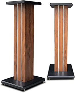 Stands Speaker Stand Home Theater Office Desktop Floor Audio And Video Appliances HiFi Surround Sound Stand Wooden (Color ...