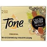 Tone Bath Bars, Cocoa Butter 4.25 Oz Bars, 2 EA