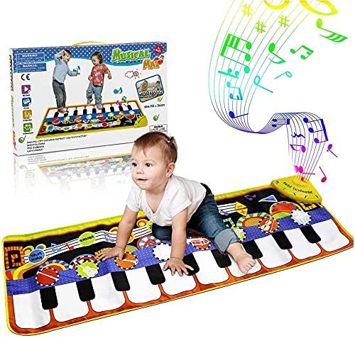 WOSTOO Alfombra para Piano, Alfombra de Teclado Táctil Musical Touch Juego Musical Portátil...