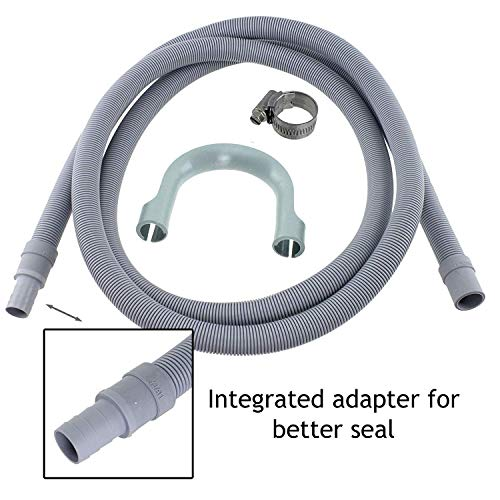 SPARES2GO Afvoerslangverlenging voor Miele Vaatwasser (2,5M, 18mm / 22mm)