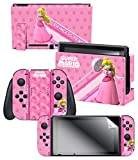 Controller Gear Nintendo Switch Skin & Screen Protector Set, Officially Licensed By Nintendo - Super Mario 'Princess Peach' - Nintendo Switch