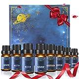 Janolia Essential Oil Set, 8Pcs Huile de parfum naturel pour diffuseur, idéal pour respirer, dormir, se détendre, rafraîchir