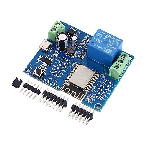 Drahtloses WIFI Relais Controller-Modul,DC 5V 8V-80V ESP8266 Wireless Controller Modul ESP-12F für IOT Smart Home APP