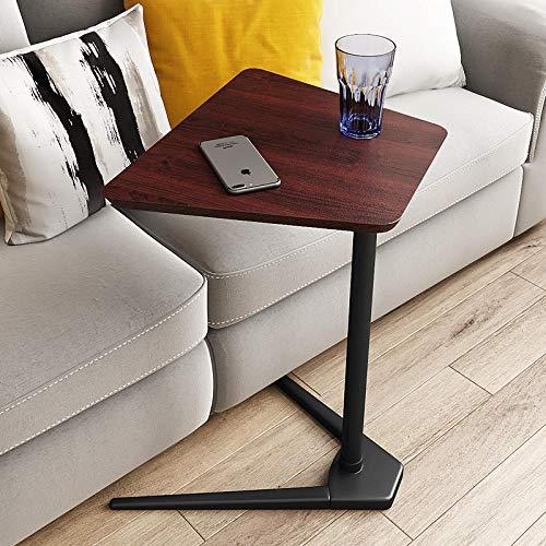 TTXP Kohlenstoffstahl Kleiner Laptop mit Brown Density Board,Vertical Laptop Stand für Wohnzimmer Schlafzimmer Büro Balkon
