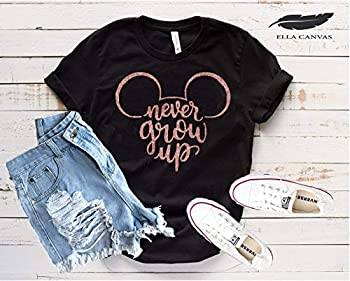Minnie Mouse Never Grow Up T-Shirt Funny Cute Matching Disney Shirts for Ladies Girls Summer Tanks