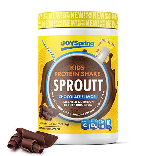Kids Protein Shake with Multivitamins - Kids Vitamin and Probiotics for Immune Support - Chocolate Kids Protein Powder with Vitamin C, Vitamin D3 and Zinc - Sugar Free with Pea & Rice Protein