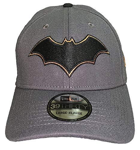 New Era Gorra 39THIRTY de DC Comics con logo de Batman Renacimiento 80 - gris - Medium / Large