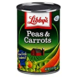 Libby's Peas & Carrots | Deliciously Sweet, Vibrantly Orange Diced Carrots & Succulent Green Peas | Farm Fresh Goodness! | No Preservatives | 15 ounce can (Pack of 12)