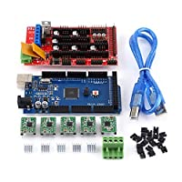 XYUANG Printer Sets RAMPS 1.4 Controller + MEGA2560 R3 + A4988 With Heat Sink USB Calbe Jumper Kit High Quality