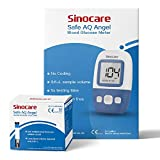 kit de monitor de glucosa en sangre safe aq angel con 50 tiras reactivas