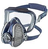 GVS Filter Technology SPR406 Elipse Integra P3 Dust Mezza maschera respiratore con filtro sostituibile e riutilizzabile, medio / grande, blu