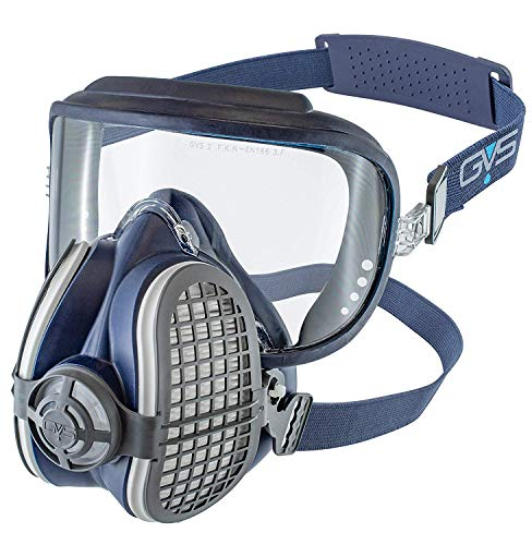 GVS Filter Technology SPR406 Elipse Integra P3 Atemschutzmaske Maske mit Austauschbaren und Wiederverwendbaren Filtern, Größe M/L, Blau